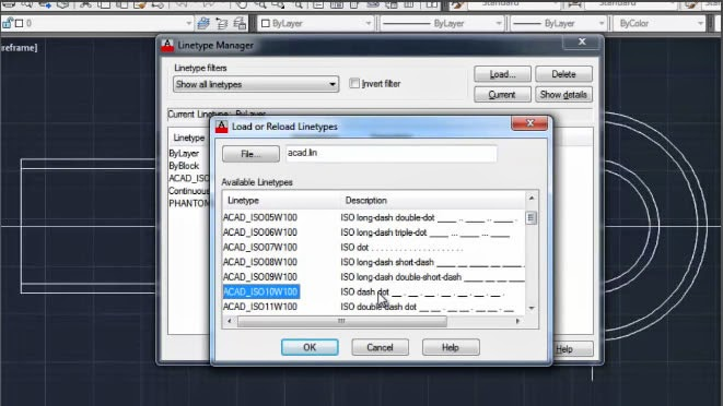 AutoCAD Linetype Command