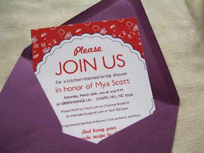 We wanted these bridal shower invites to be demure but a little modern too