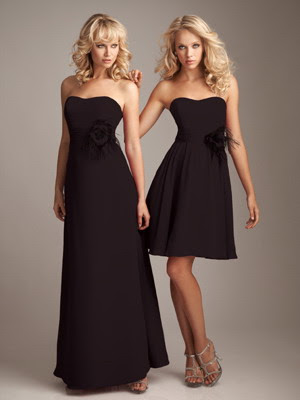 Strapless-Black-Empire-Chiffon-Birdesmaid-Dresses