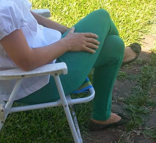calça de montaria verde