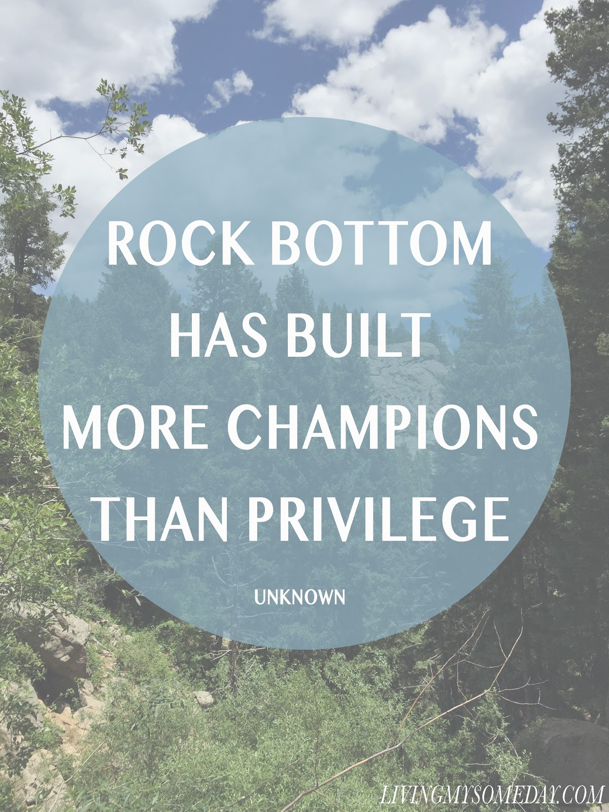 Rock Bottom Has Built More Champions than Privilege