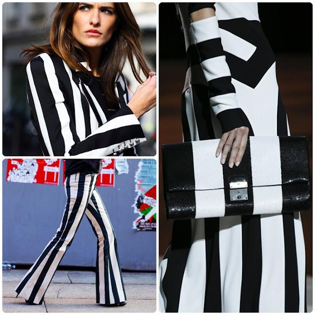 siyah beyaz çizgili sokak modası