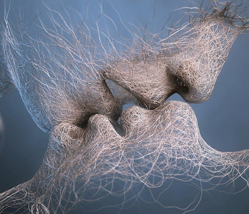 Last Kiss - Adam Martinakis 1972 - Polish Surrealist Digital painter