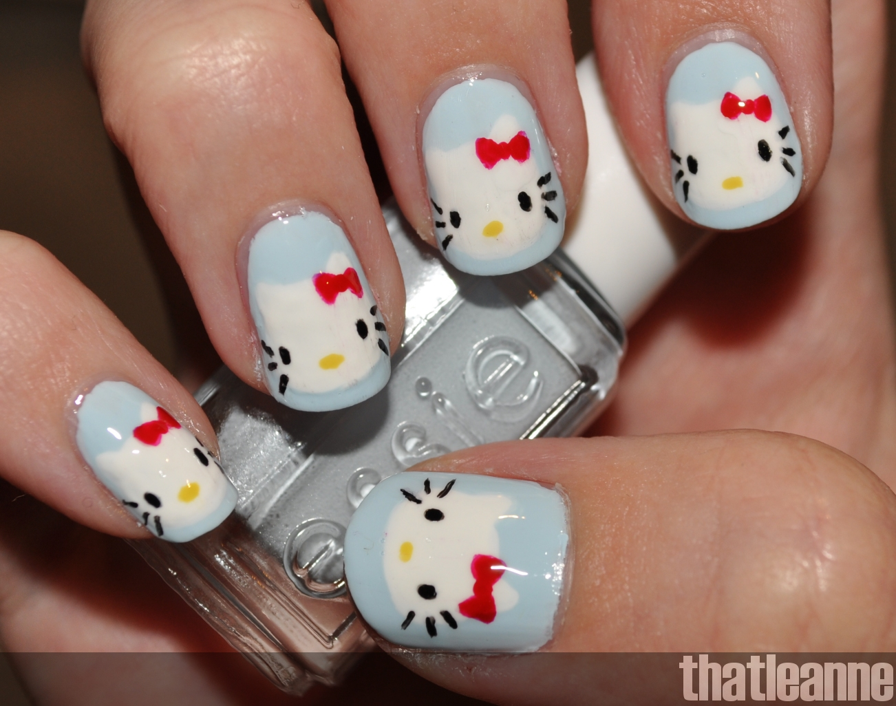 Hello Kitty Nail Art With Essie Wedding 2011 Swatches Easy Nail Art