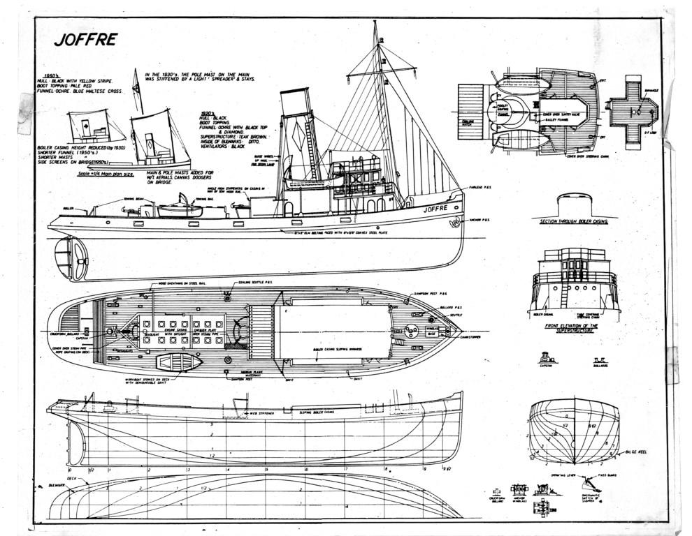 Quinze marins sur le bahut du mort Plan du Remorqueur Joffre ~ Plan Maquette Avion Bois Gratuit