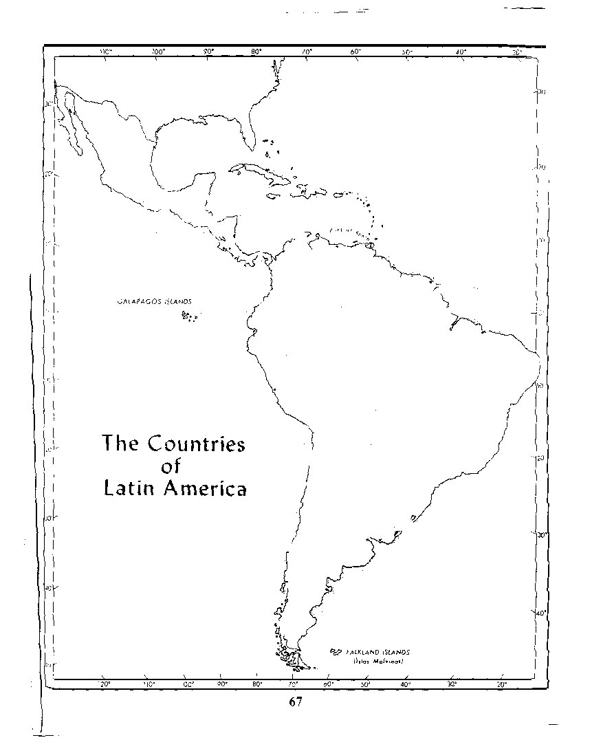 Free Blank Map Of Central And South America