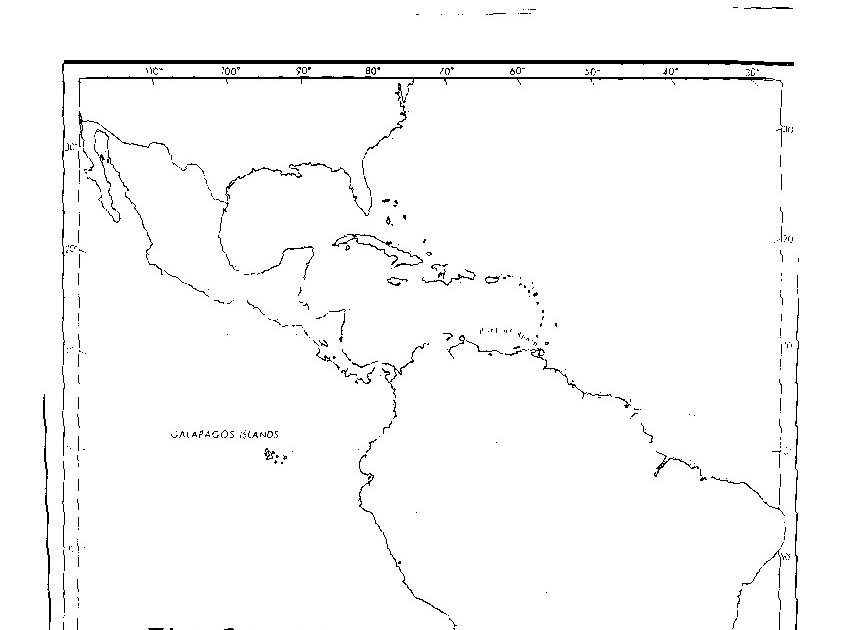 blank map of latin america