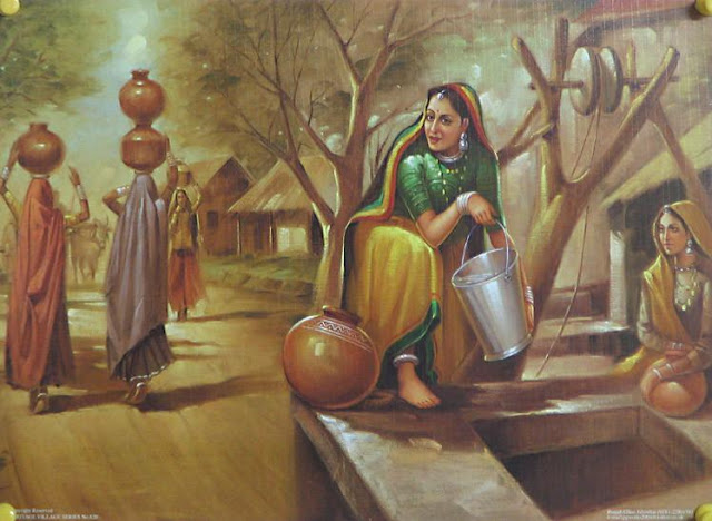 Rajasthani Girls Art Paintings 31