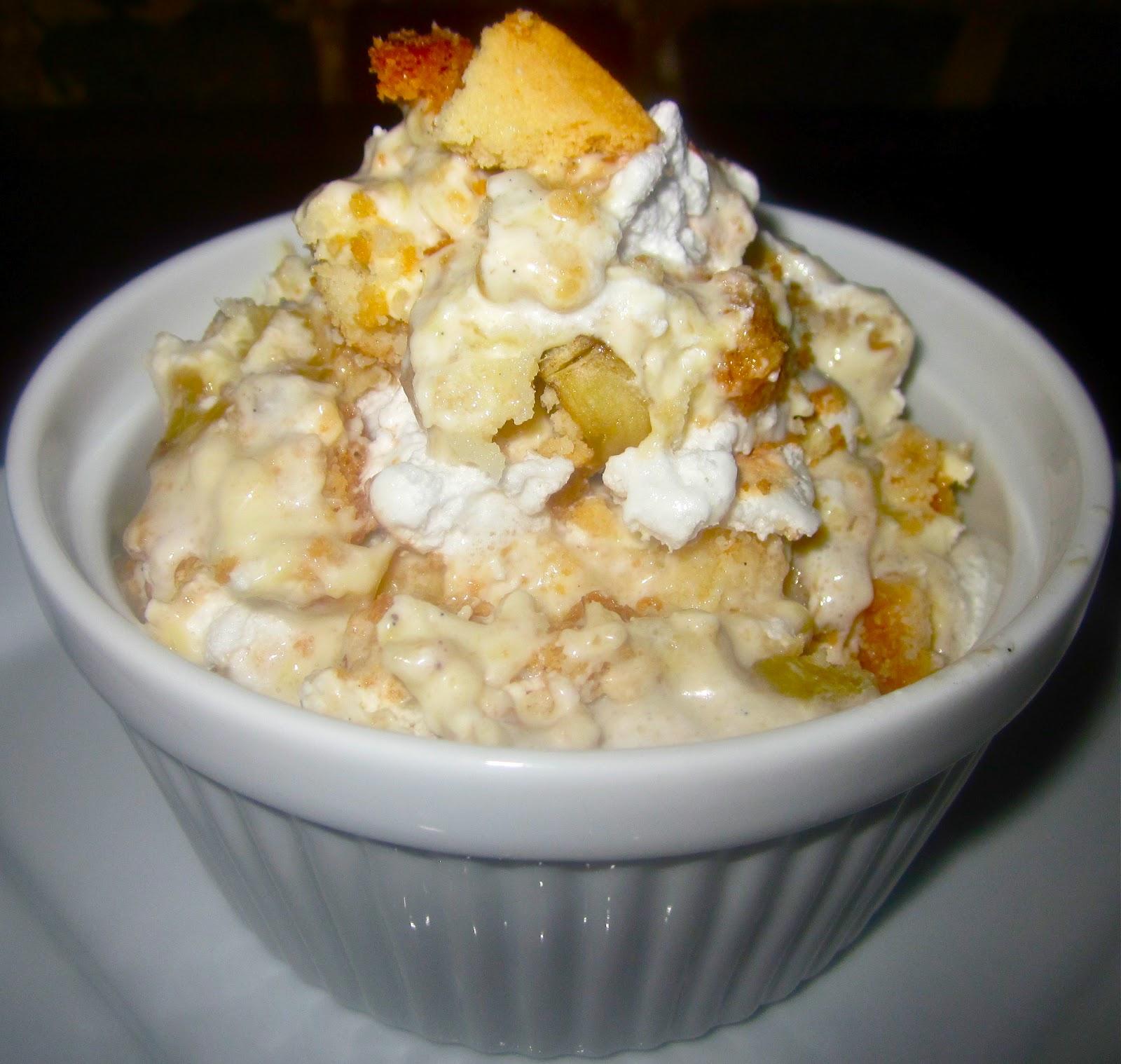 ... Roasted Banana-Vanilla Bean Pudding, Whipped Cream, Sliced Banana