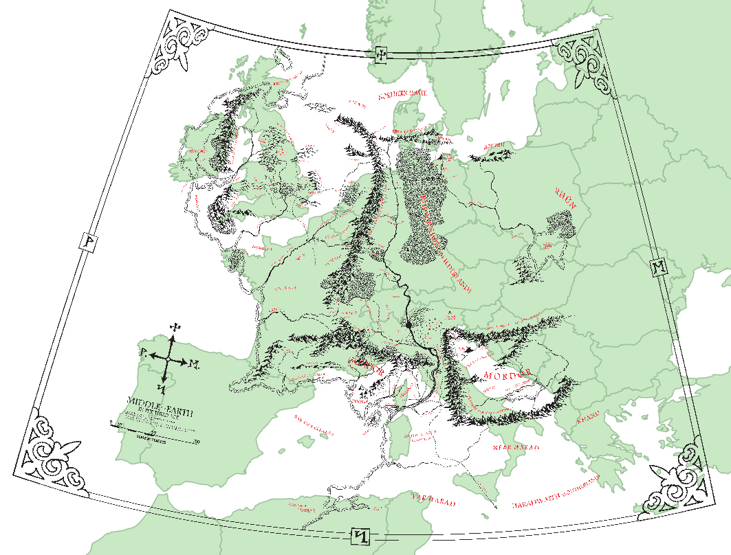 GIS Ninja Georeferencing Middle Earth – Best Middle Earth Map