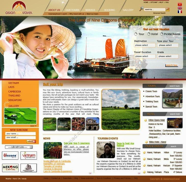 thiết kế website du lịch chuyên nghiệp, chất lượng