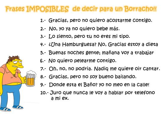 Frases imposibles de los borrachos