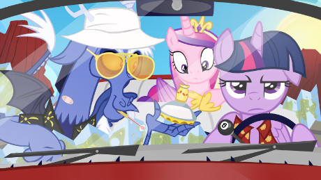 As Discord's attorney, Twilight Sparkle recommends he got go to Tartarus