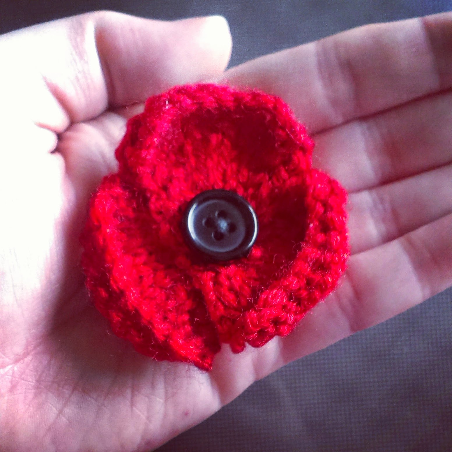 Remembrance Day Knitted Poppy