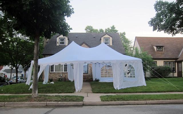 graduation party tent
