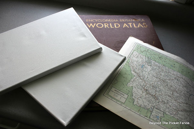 atlas, vintage, map, canvas, http://bec4-beyondthepicketfence.blogspot.com/2015/09/map-canvas.html  Automatic Permalink
