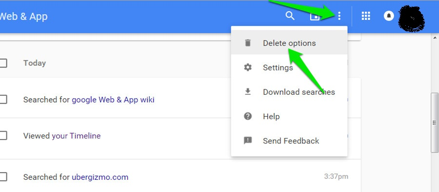 how to turn off google search history on ipad