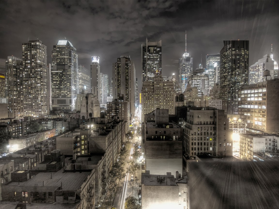 New york city at night black and white desktop wallpapers for New york city beautiful