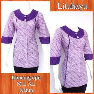 Baju Blouse Batik Lituhayu DBT 4208