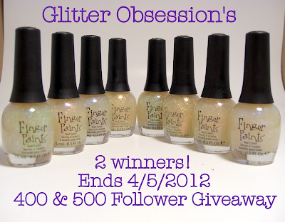 Glitter Obsession's 400 & 500 Follower Giveaway