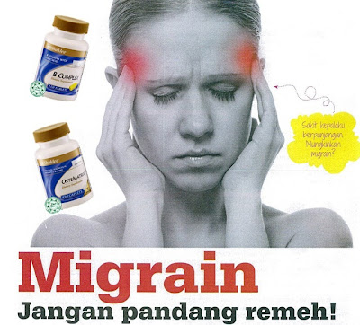 migrain, cara atasi migrain, b complex shaklee, ostematrix shaklee, ubat untuk migrain, vitamin untuk migrain