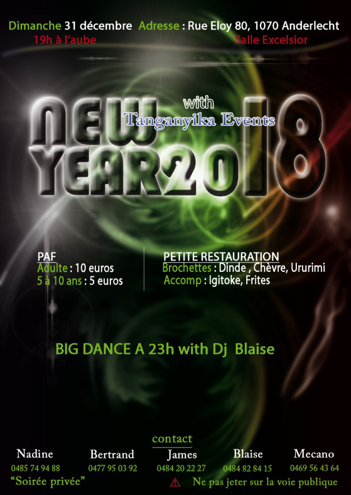 « New Year 2018 » à Bruxelles