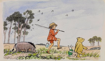 Today 39 s inspiration original winnie the pooh for Rough and milne