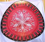 Elle Keramikk trekantet fat med små føtter, d = 36 cm