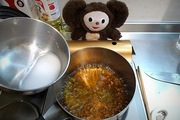 キス唐揚げ甘酢あんかけ焼き蕎麦のせの作り方(2)