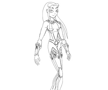 #16 Starfire Coloring Page