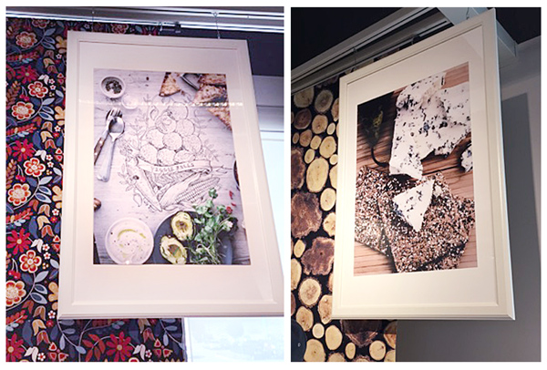 framed artwork at IKEA design & dine event