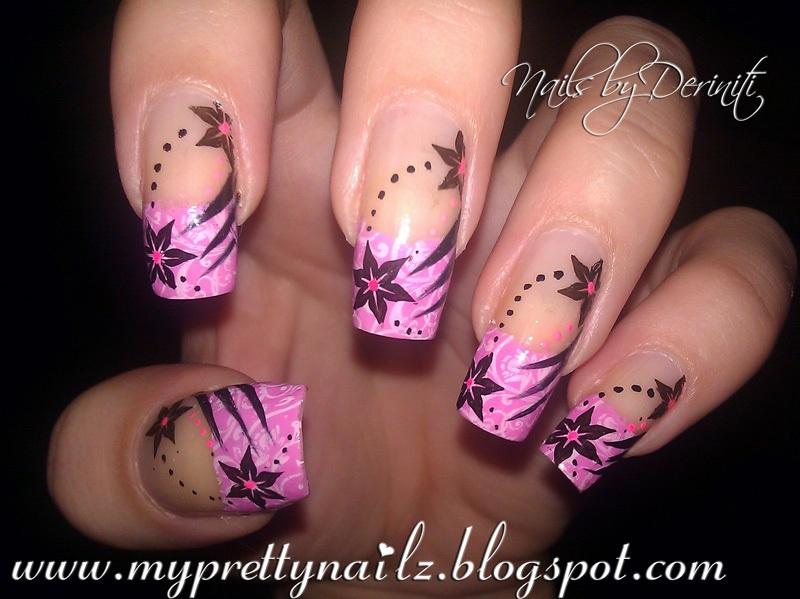 Mash 43 35 Zoya Sweet Nail Art Polish In Black White Pens Pink Kiss Paint