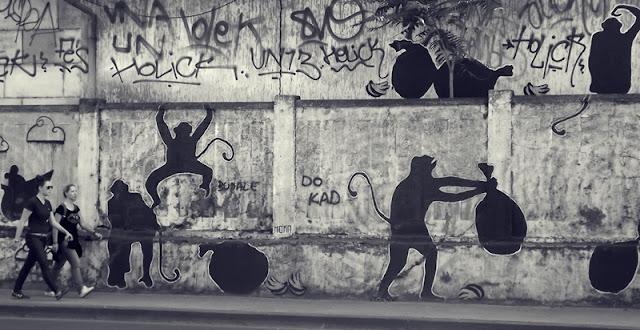 Zagreb, Croatia, murals