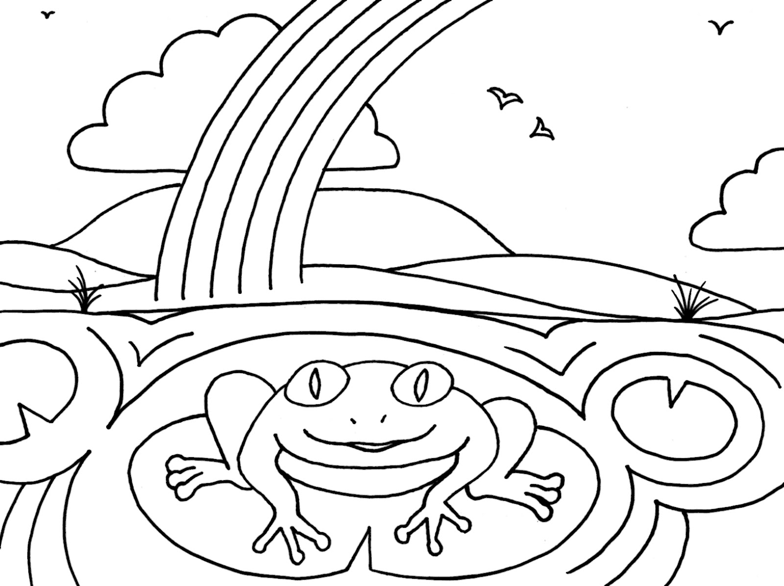 wood frog coloring pages - photo#24