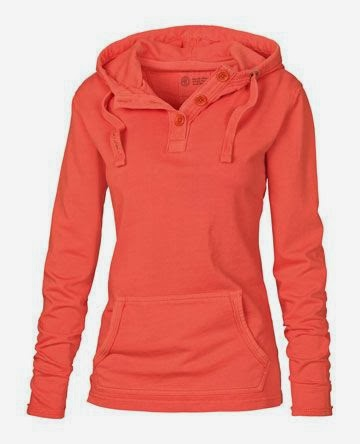 Sleeve warm orange color hoodie fashion style