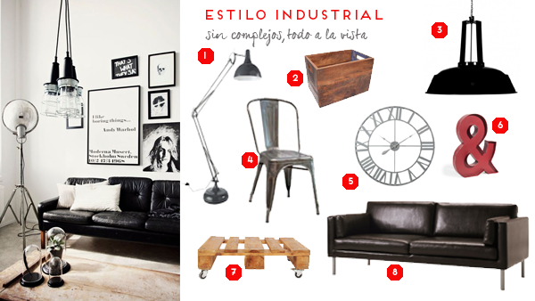 estilos de decoración BOHO SHABBY CHIC NATURAL INDUSTRIAL