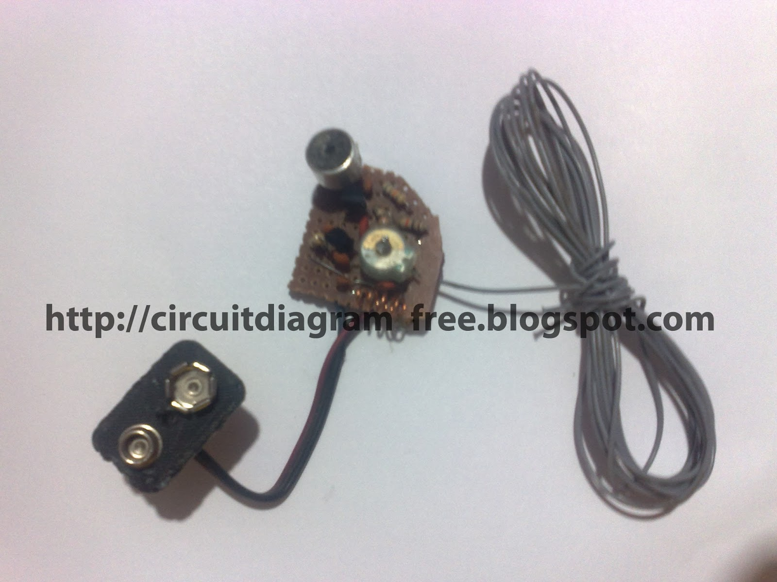 Electronic Circuit Diagrams Fm Transmitter 800m 2400ft 9v Wireless Microphone Wiring
