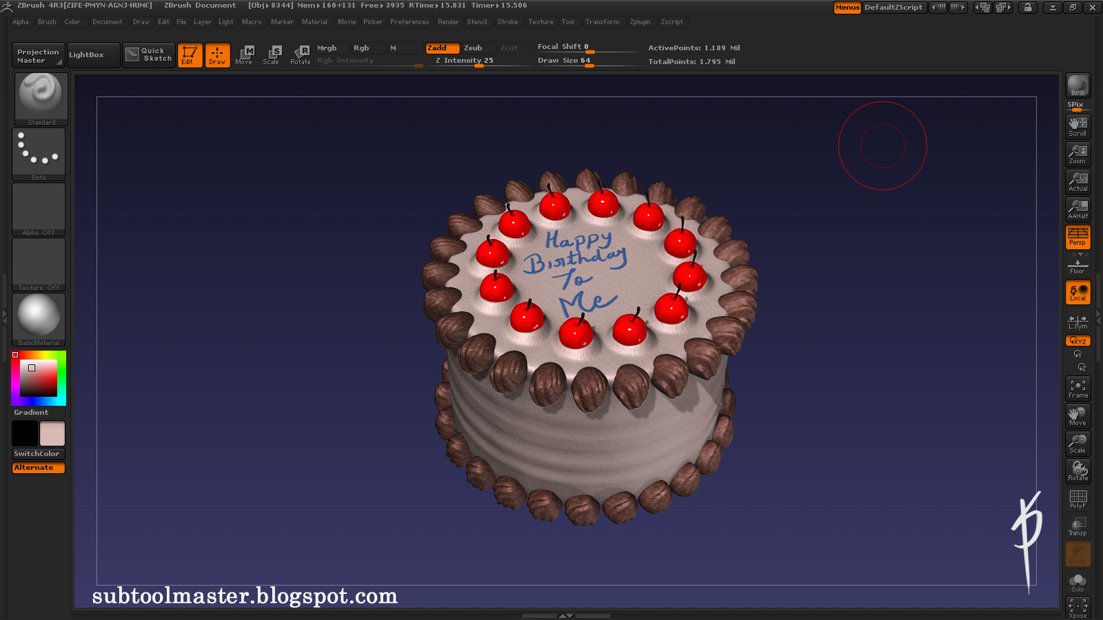 Cake Images Satish : Satish Prajapati CG Artist: January 2013