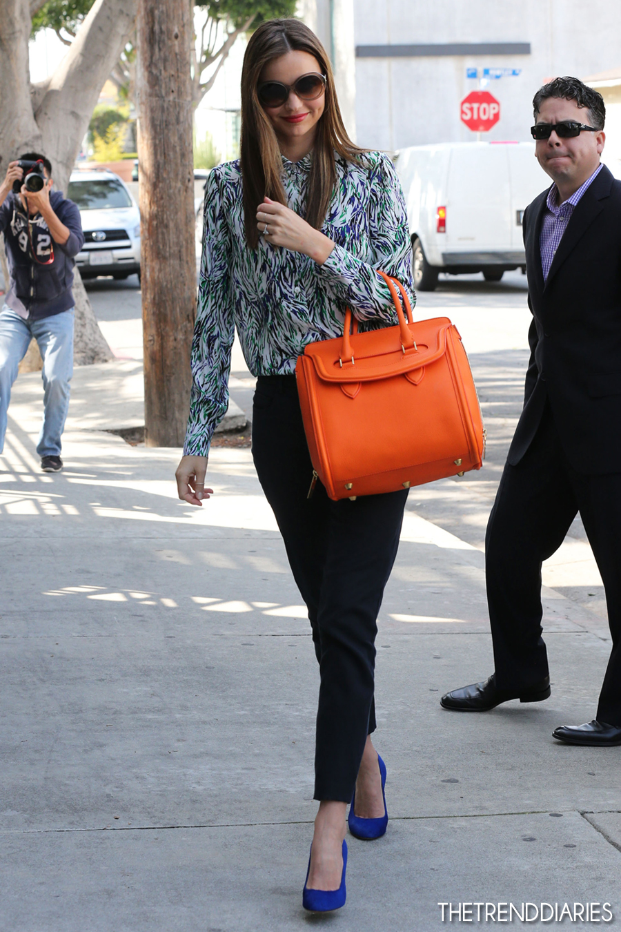 Street Style UPDATE: Miranda Kerr keeping up with the leather ...