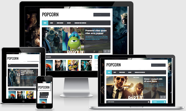 PopCorn Blogger Template by Sora Templates