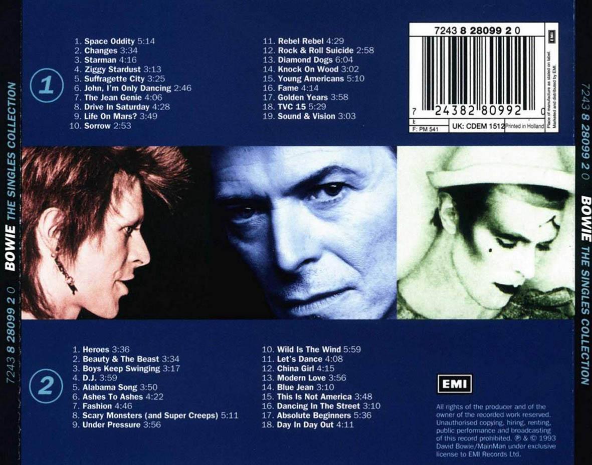 David Bowie The Singles 1969 1993 Cd2 Rock Rock | Short News Poster