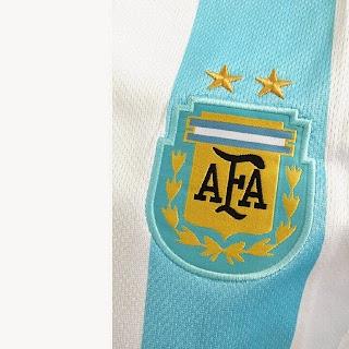 gambar photo dan jual jersey Detail lambang AFA federasi sepak bola Argentina