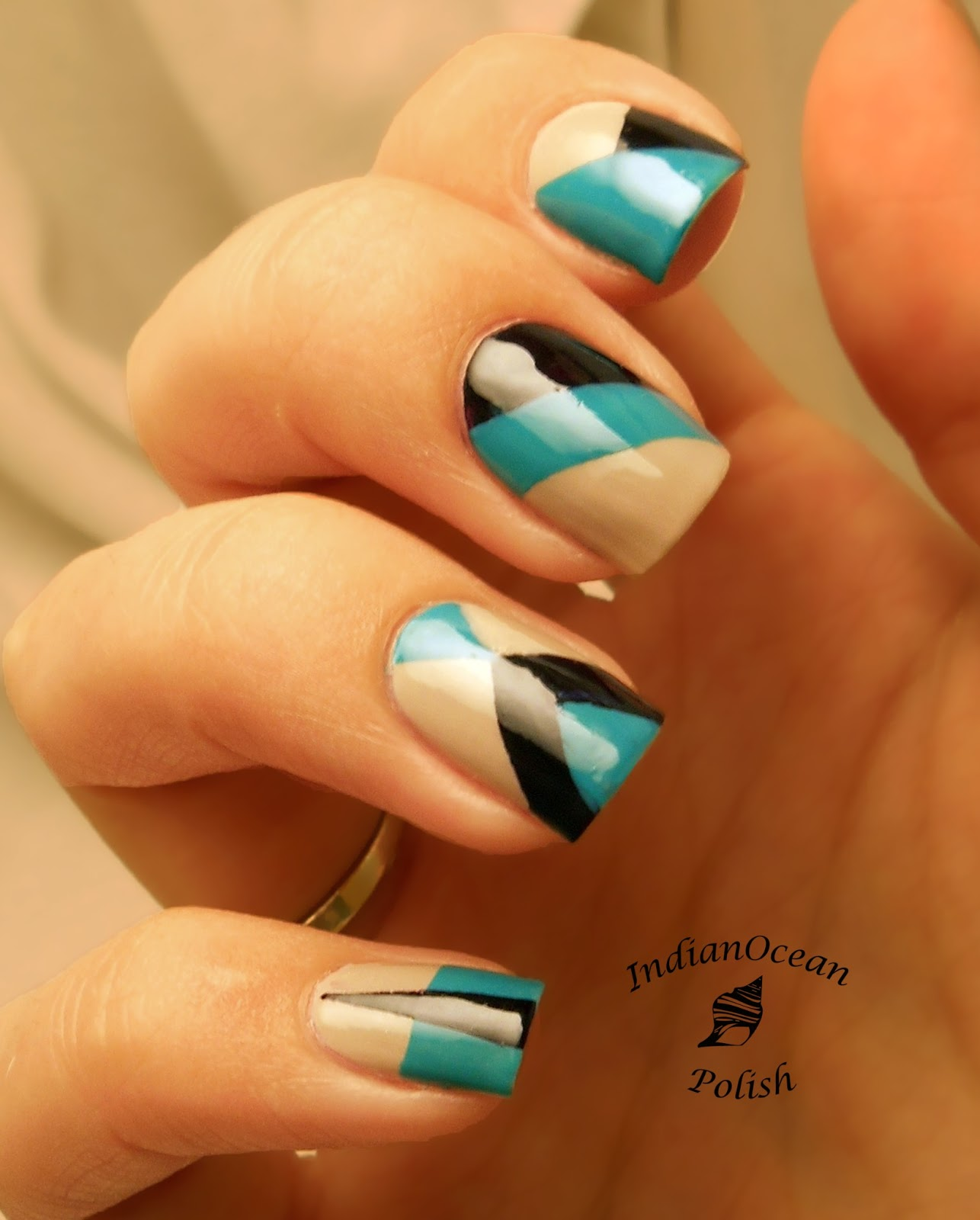 Nail Art With Tape: Indian Ocean Polish: July 2013