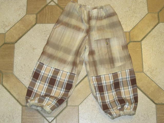 комбинированные штаны