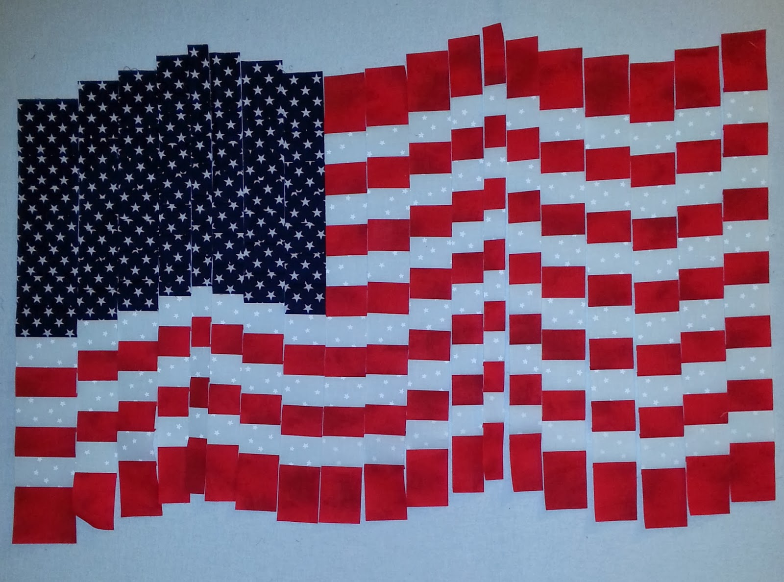 Hanging Flag On Wall sew ez quilting: bargello flag wall hanging