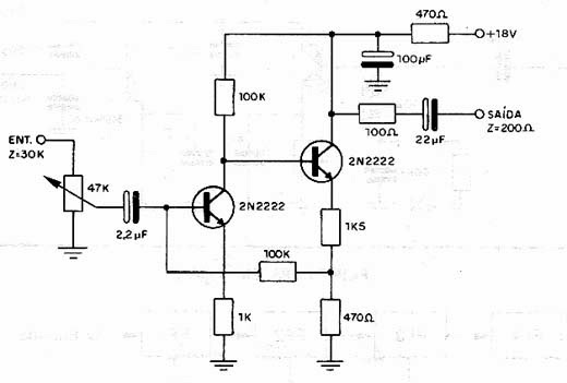 Circuito Amplificador De Audio : Electronica diagramas circuitos circuito amplificador de