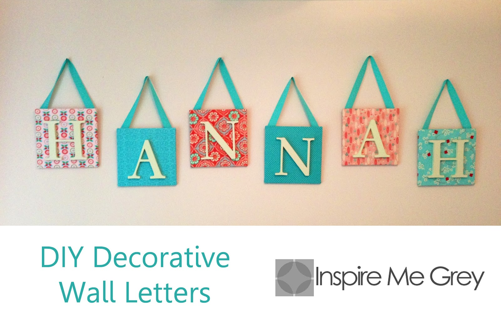Inspire me grey diy decorative wall letters for Homemade wall letters
