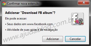 Confirmar Instação do FB Album