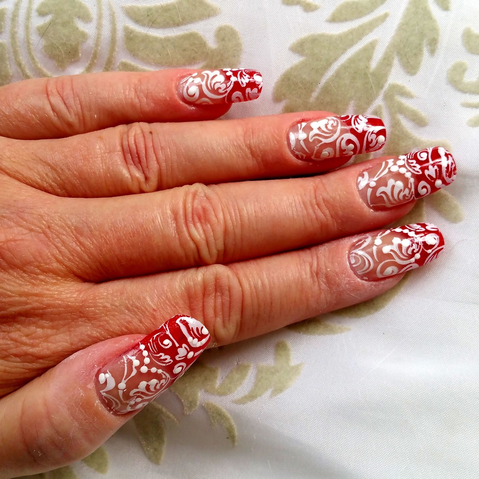 Nailways Scarlet Royalty French Manicure Nailart