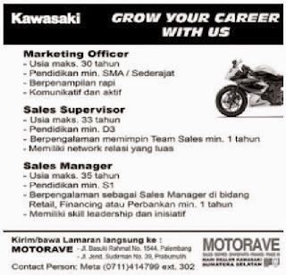 Loker Kawasaki Palembang